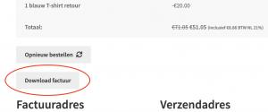 Download MoneyBird factuur als PDF vanuit WooCommerce front-end
