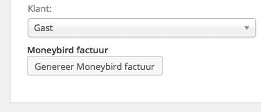 Maak Moneybird factuur met druk op de knop