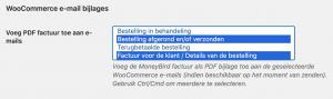 MoneyBird PDF factuur als bijlage in WooCommerce emails
